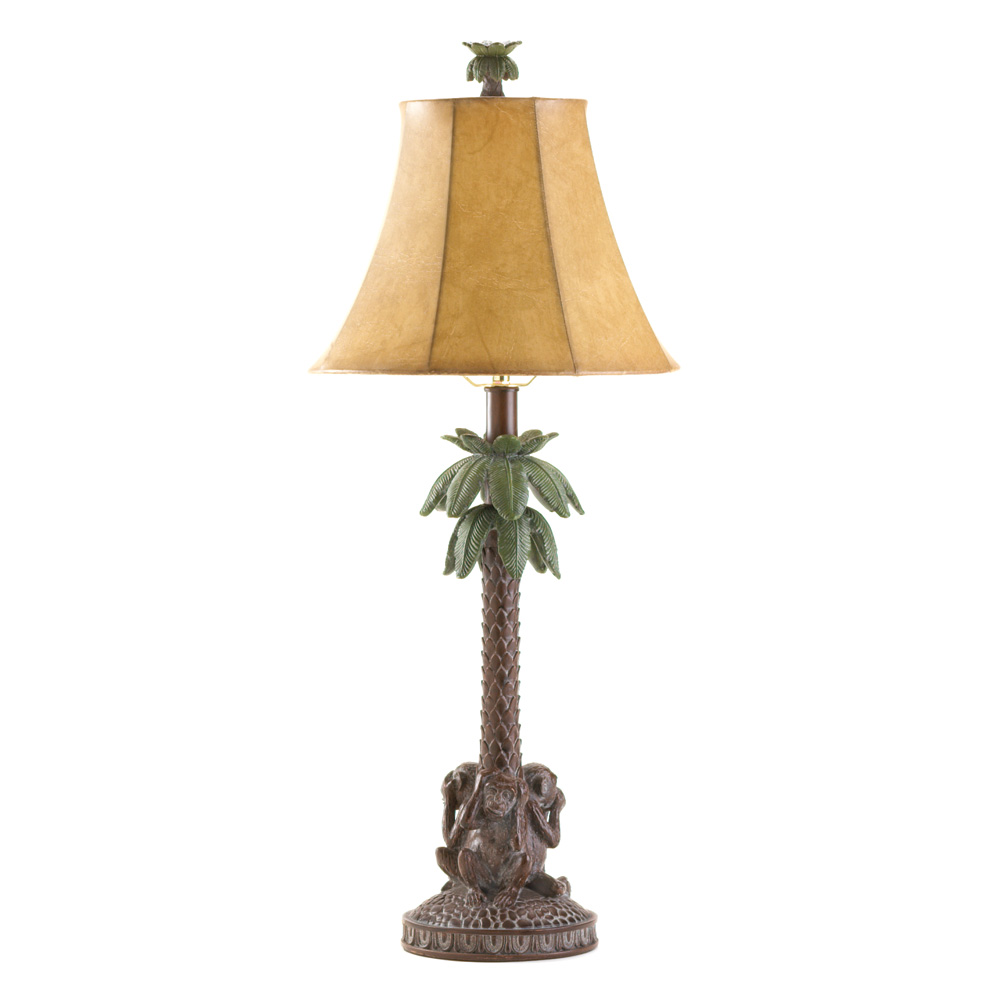 Koehler home decor gift accent tropical palm tree lamp ebay for Koehler home decor
