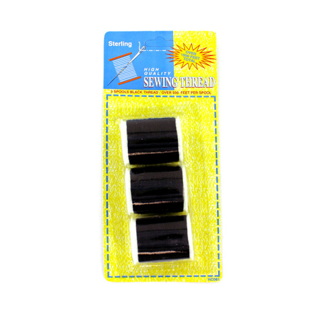 KOLE IMPORTS Household Accessories Seasonal Gifts Black Sewing Thread Set 24 Pack at Sears.com