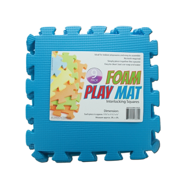 bulk buys Interlocking Foam Kids Playroom Play Activity Mat Blue Pack of 4 at Sears.com