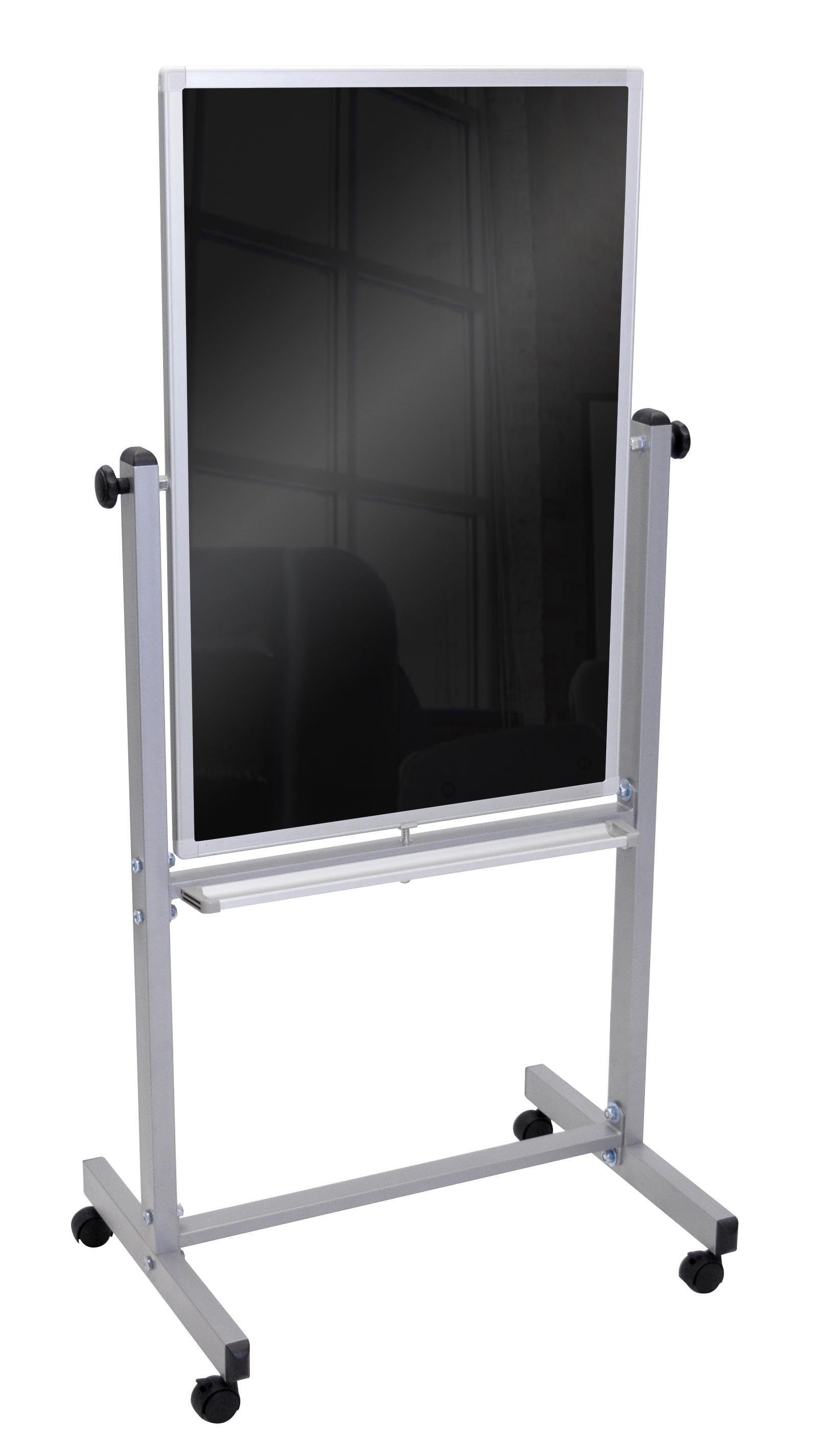 Offex Double Side Aluminium Frame Home Office School Classroom Presentation Blackboard
