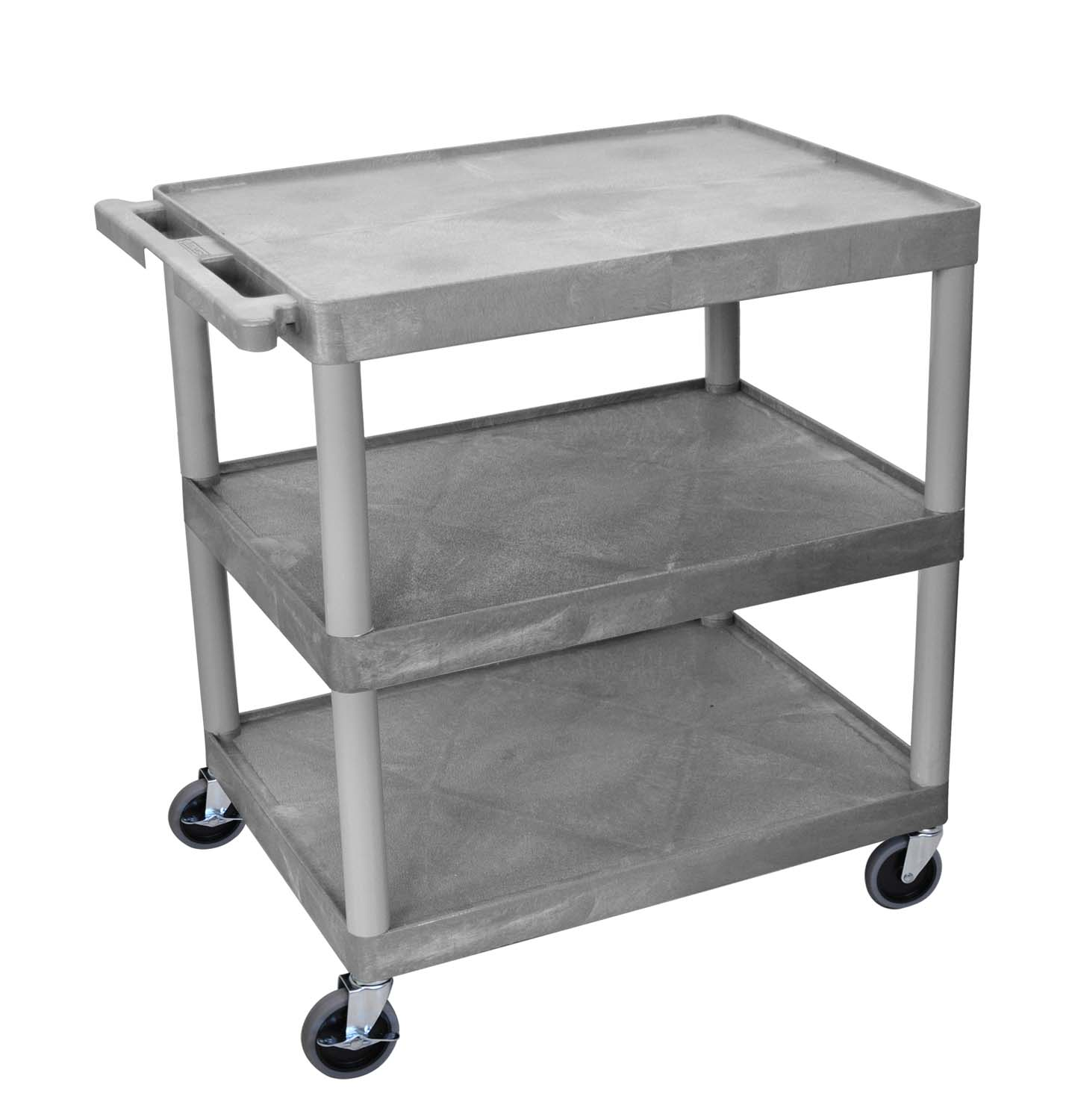Offex Utility Cart - 3 Shelves Structural Foam Plastic