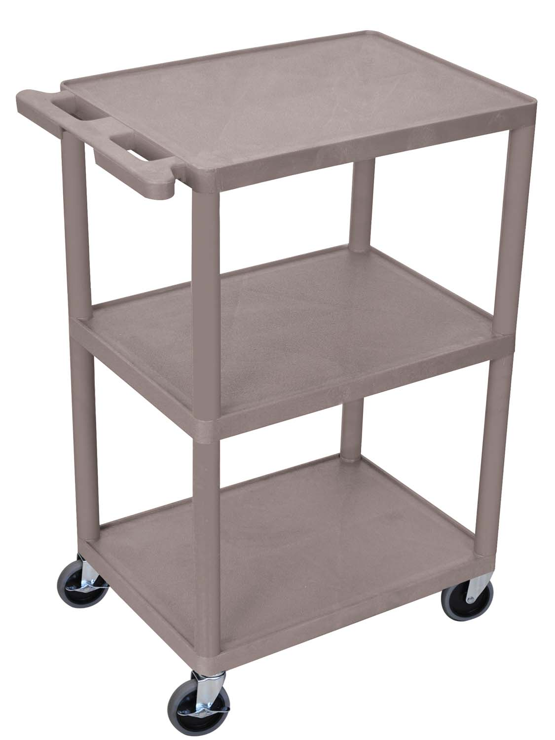Offex 3-Shelf Utility Cart - 36 W x 18 D x 39 H - Gray