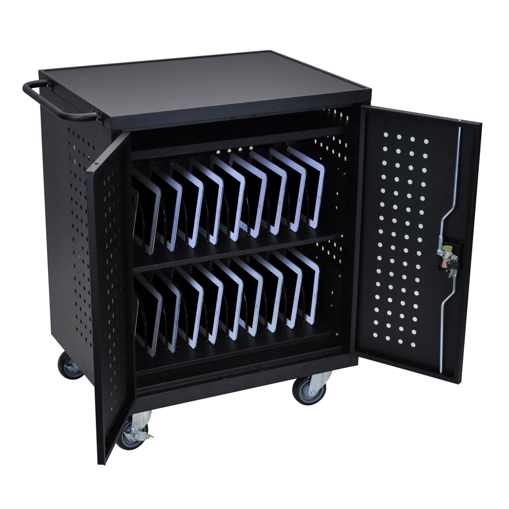 Offex Black 42 Computer Tablet Charging Cart