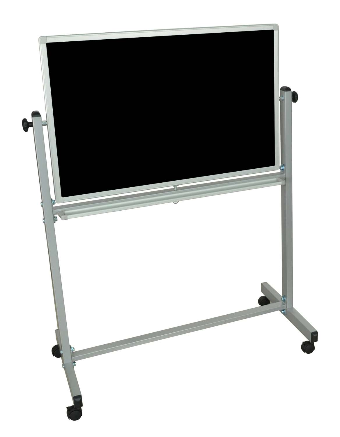 Offex Mobile Double Sided Magnetic Reversible Chalk Board / White Board 36