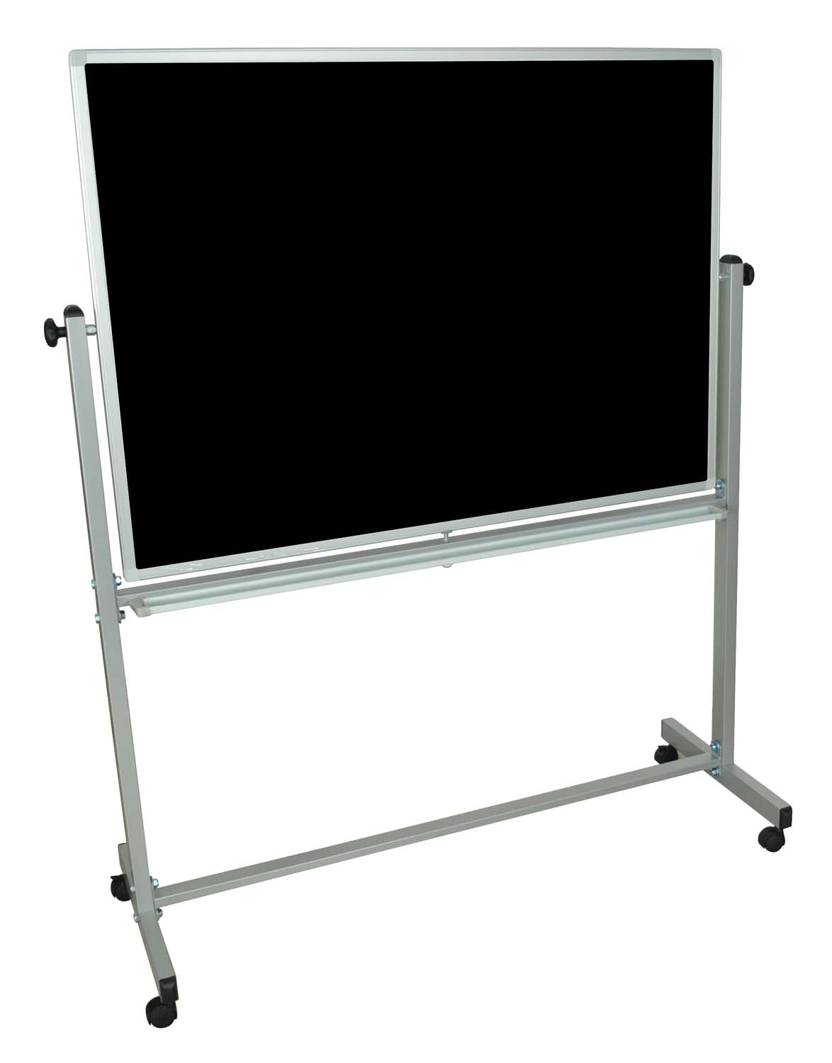 Offex Mobile Double Sided Magnetic Reversible White Board / Chalk Board 48