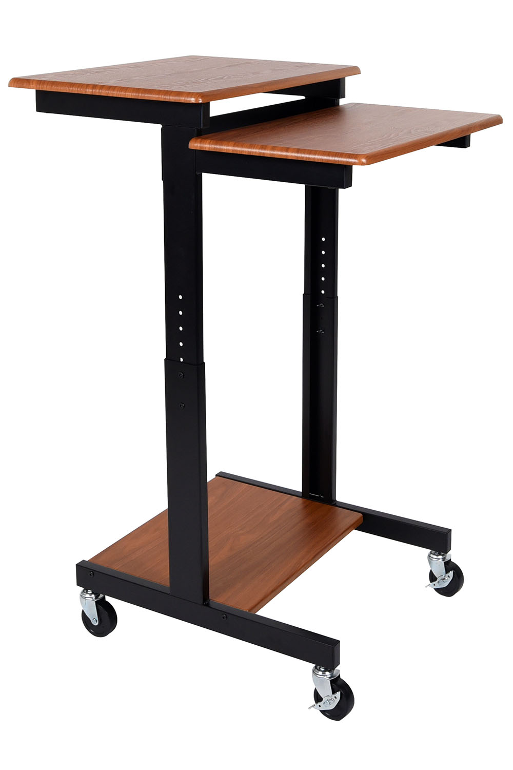 Offex Teak Adjustable Height Multipurpose Presentation Workstation