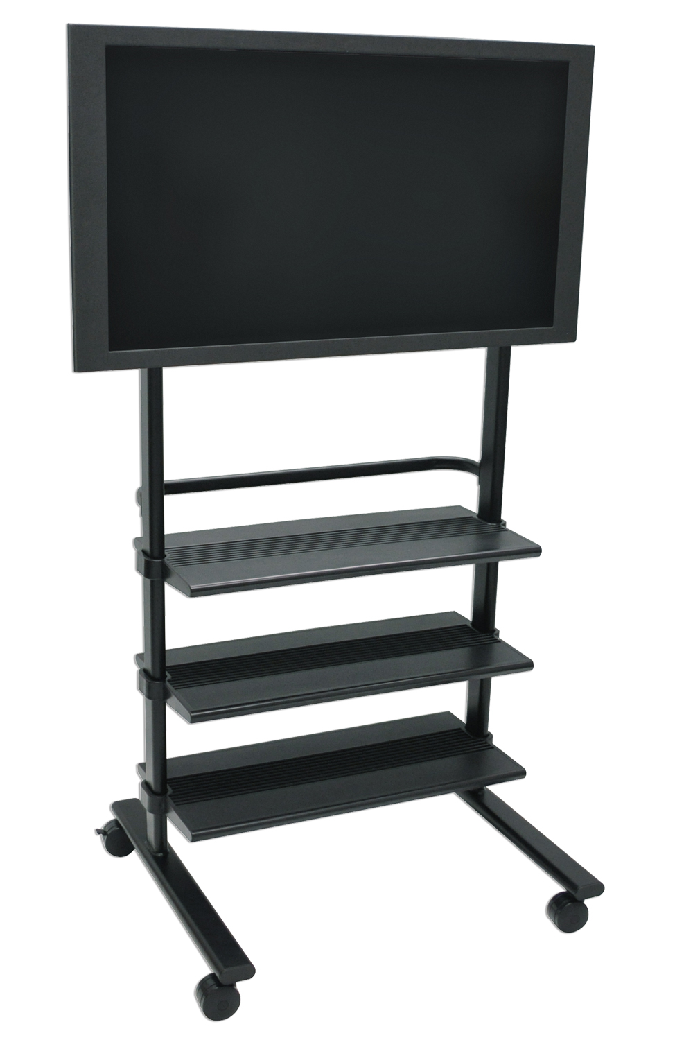 Offex Flat Panel TV Stand With Mounting Brackets Fit for Plasma / LCD Monitor, 3 Plastic Shelves, 3