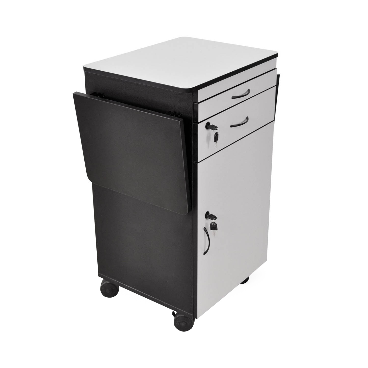 Offex Wood Sturdy Multimedia Computer Workstation