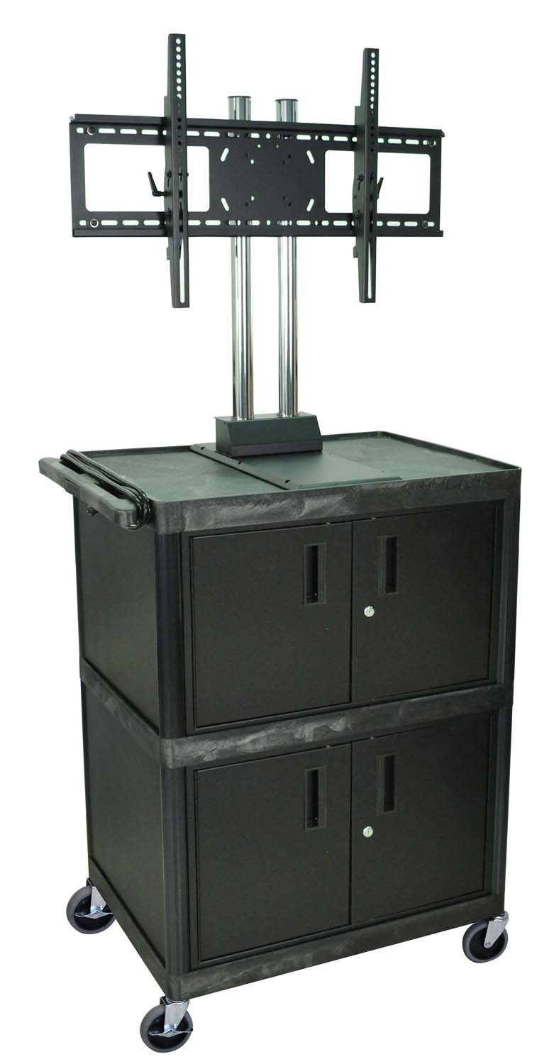 """H. Wilson Multipurpose Cart Universal LCD Plasma LED TV Mount Multimedia AV Stand Cart With 2 Storage Cabinets 69"""" at Sears.com"""