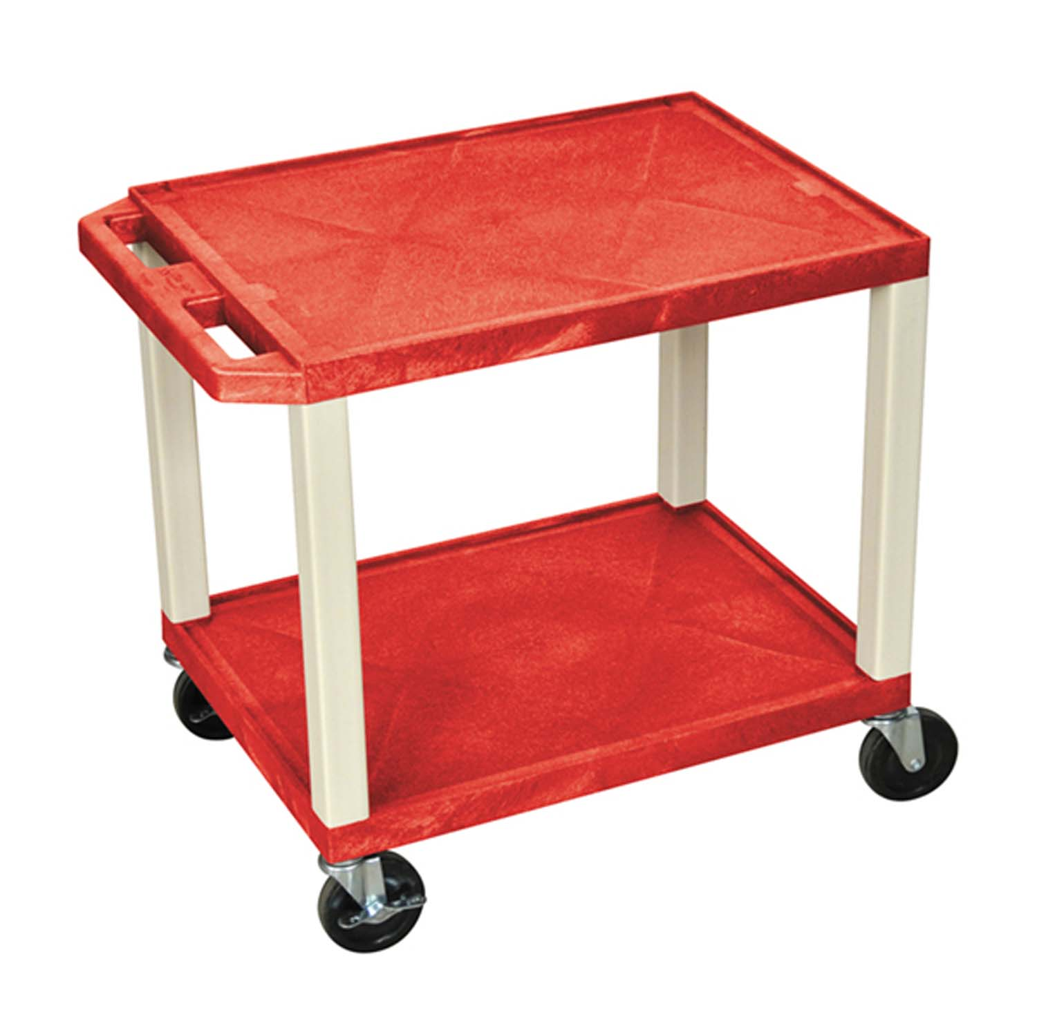 Offex WT26E - Tuffy AV Cart - 2 Shelves Putty Legs