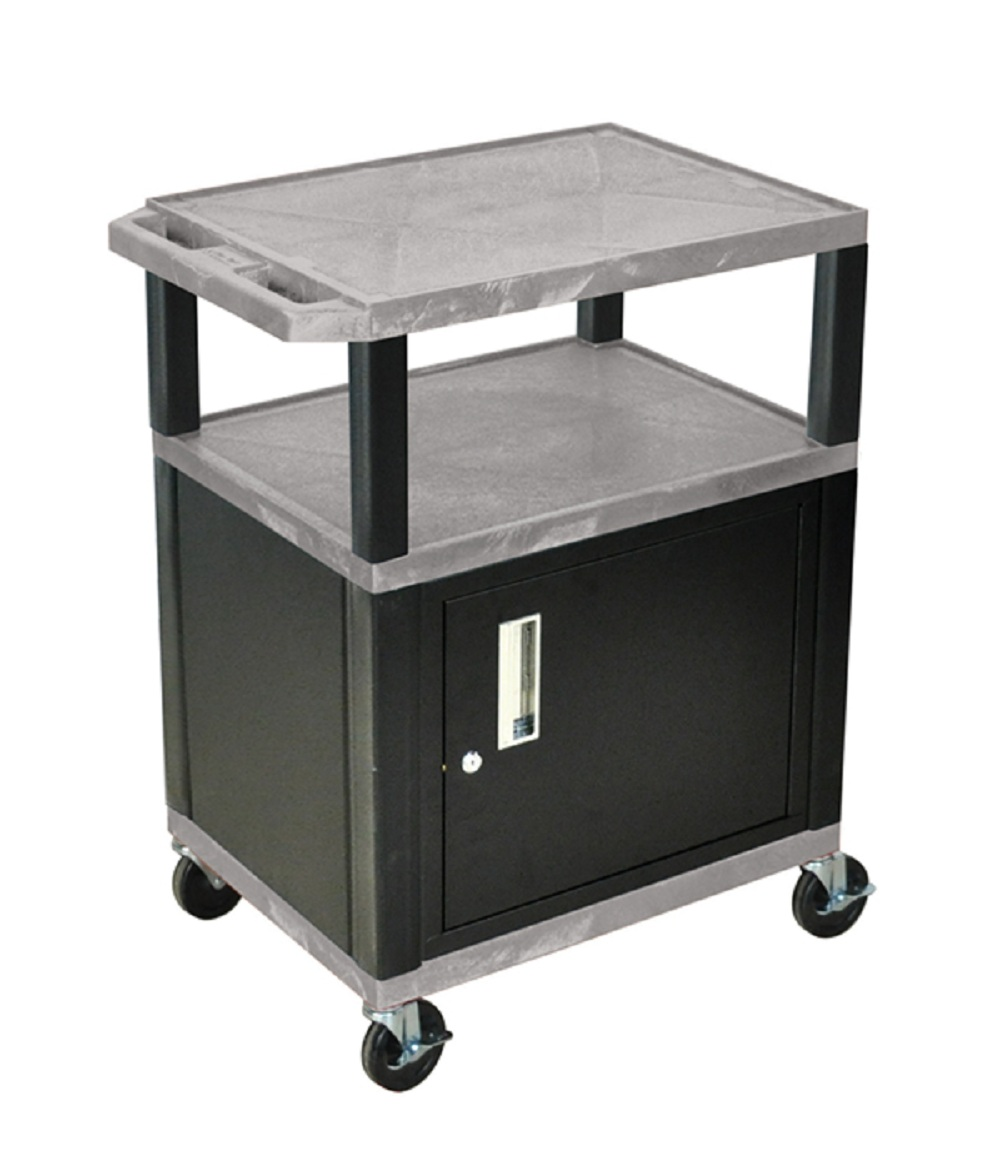 Offex Gray Cart 34 With Black Tuffy Cabinet