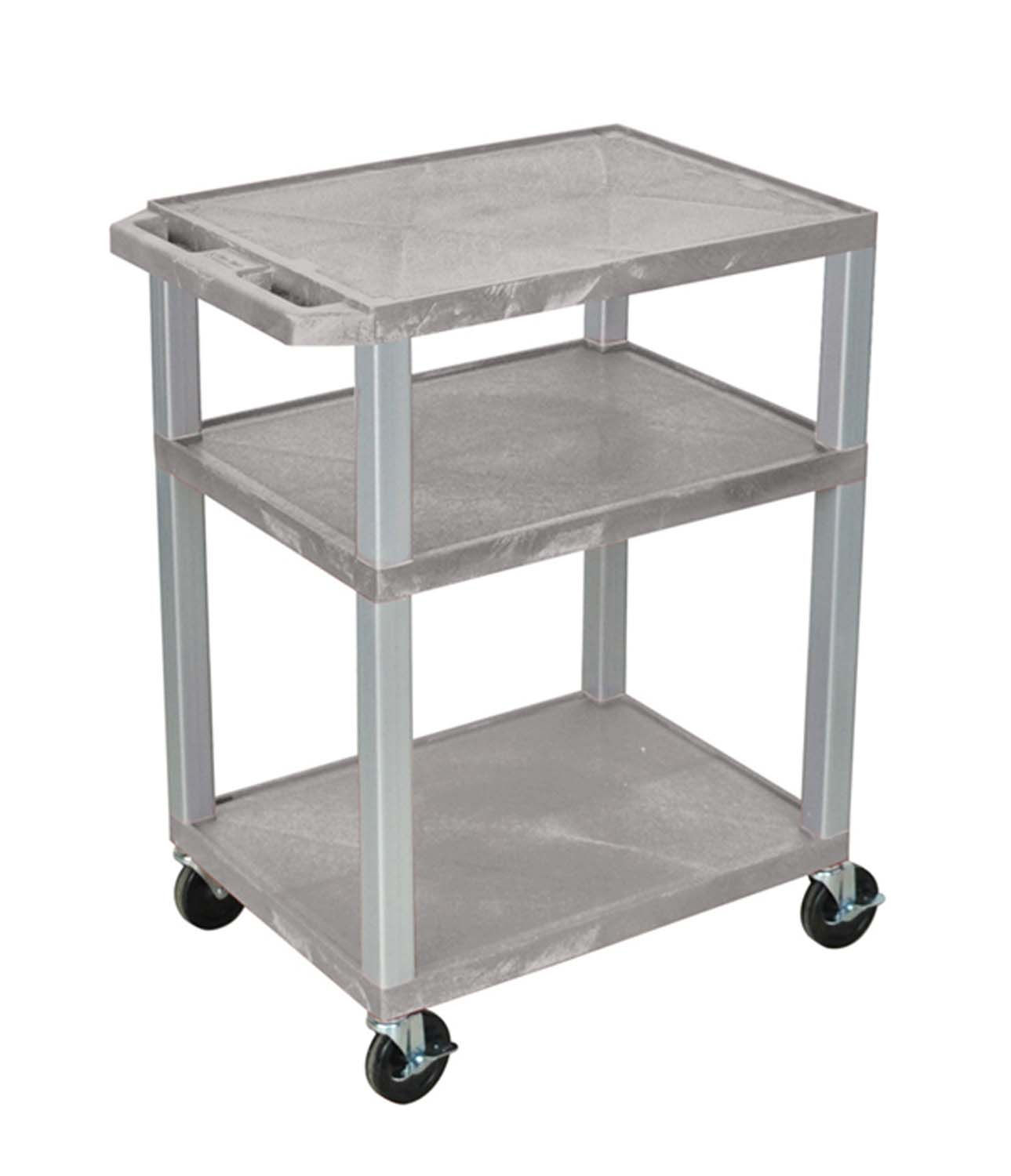 Offex Gray Multipurpose Tuffy Cart 34 with Gray Legs