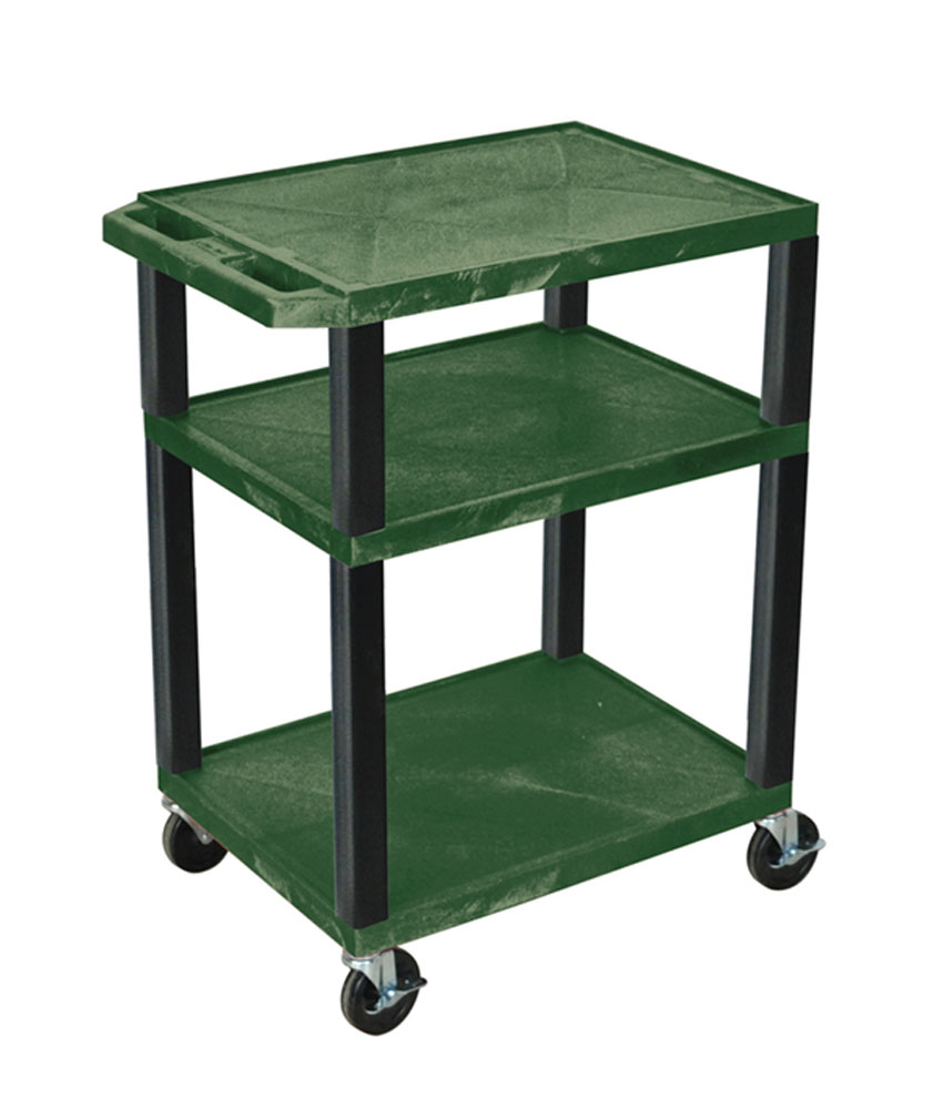 Offex Hunter Green Multipurpose Tuffy Cart 34 with Black Legs