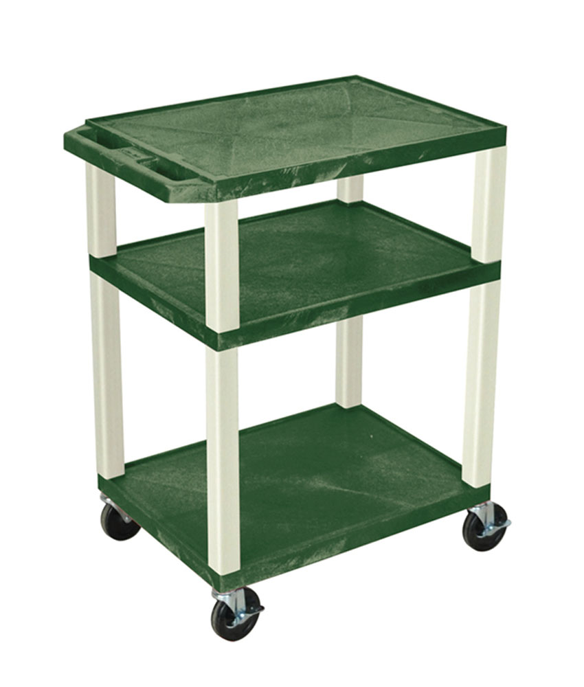 Offex Hunter Green Multipurpose Tuffy Cart 34 with Putty Legs