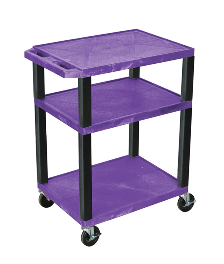 Offex Purple Multipurpose Tuffy Cart 34 with Black Legs
