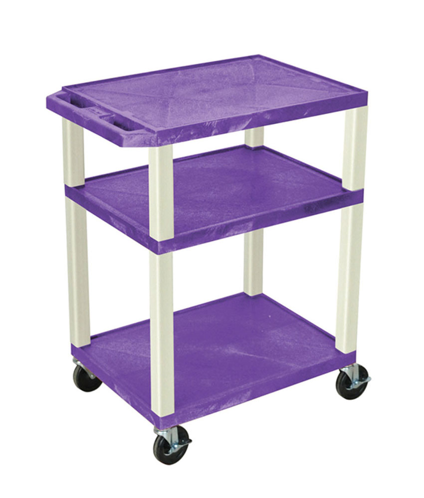 Offex Purple Multipurpose Tuffy Cart 34 with Putty Legs