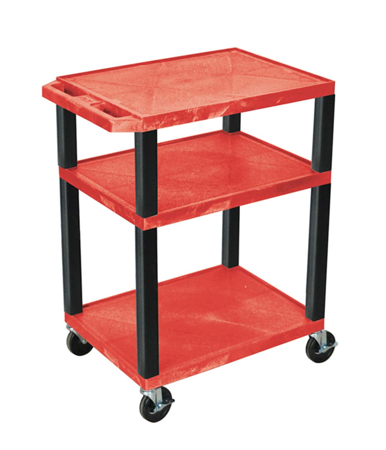 Offex Red Multipurpose Tuffy Cart 34 with Black Legs