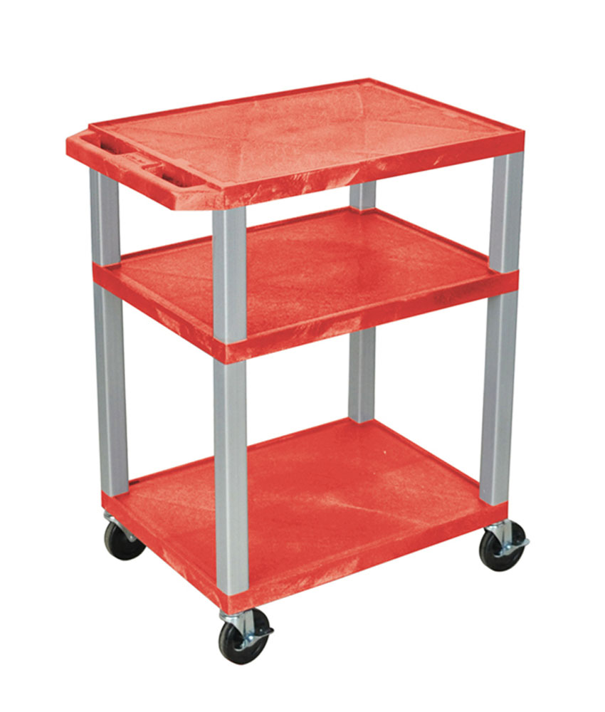 Offex Red Multipurpose Tuffy Cart 34 with Gray Legs