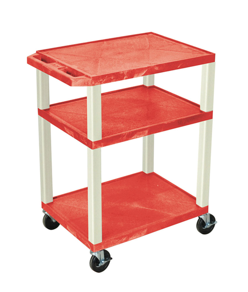 Offex Red Multipurpose Tuffy Cart 34 with Putty Legs