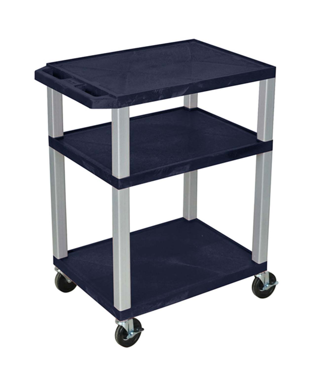Offex Tuffy AV Cart 3 Shelves Nickel Legs