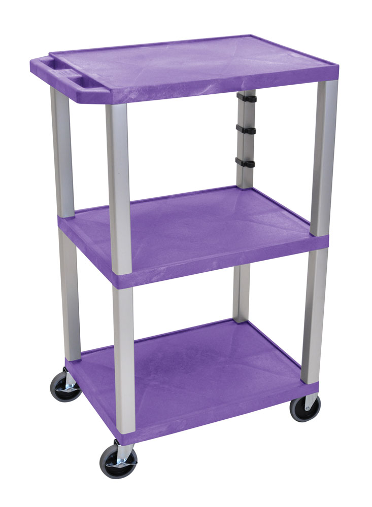Offex Purple Tuffy Cart 42 with Gray Legs