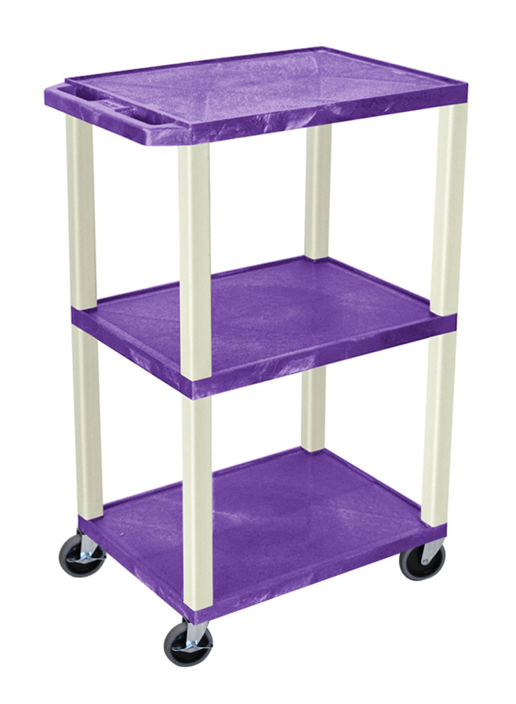 Offex Purple Tuffy Cart 42 with Putty Legs