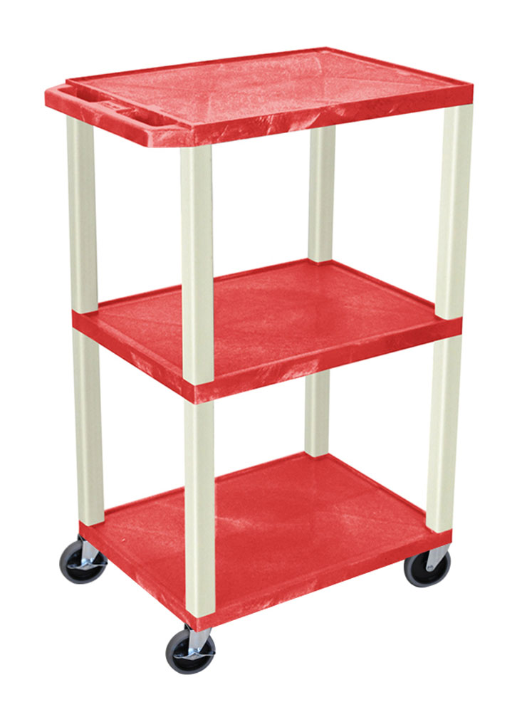 Offex Red Tuffy Cart 42 with Putty Legs