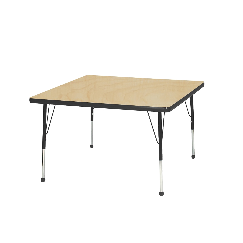 "Mahar 24"" Square TableTop Maple Edge Fuchsia Leg Ht Toddler 16""-24"" Glide Ball at Sears.com"