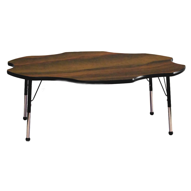 "Mahar 60\"" Daisy Activity Table Top Walnut Edge Tan Leg Height Standard 21\""-30\"" Style Glide Nickel at Sears.com"