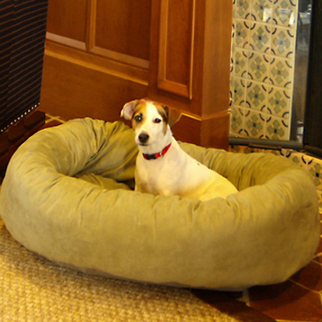 Majestic Pet 32-Inch Micro Suede Waterproof Bagel Dog Bed - Sage at Sears.com