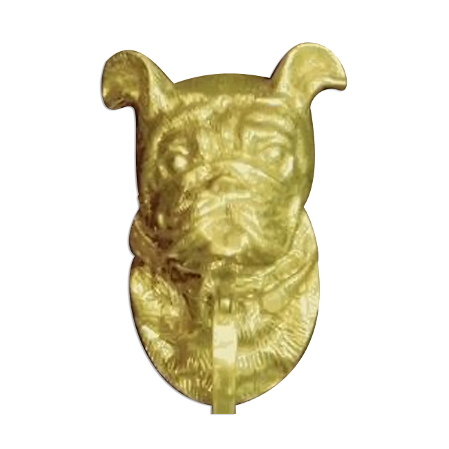 Mayer Mill Brass Decorative Polished Antique Bull Dog Door Knocker Ebay