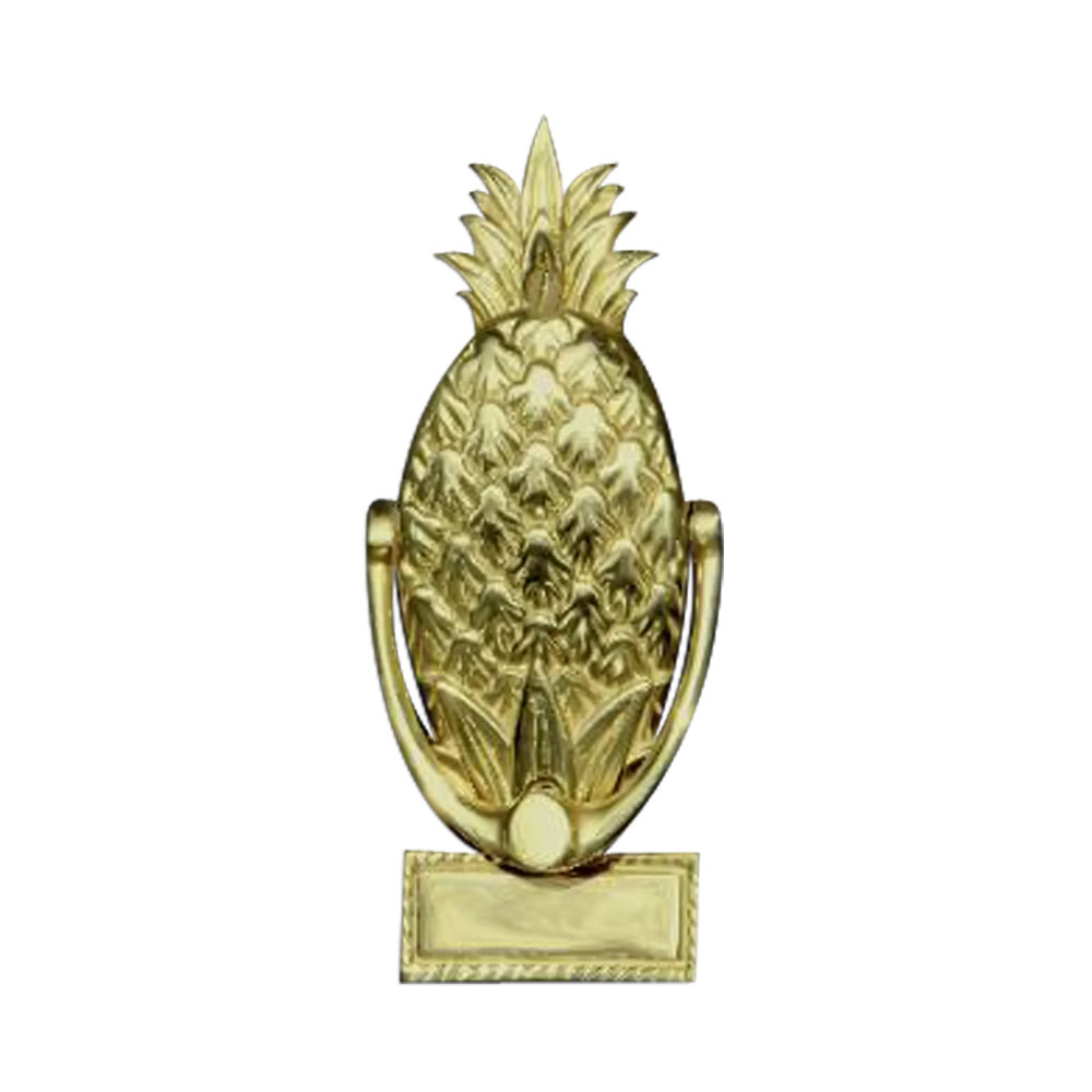 Mayer mill brass decorative polished small pineapple door knocker engrave ebay - Pineapple door knocker ...