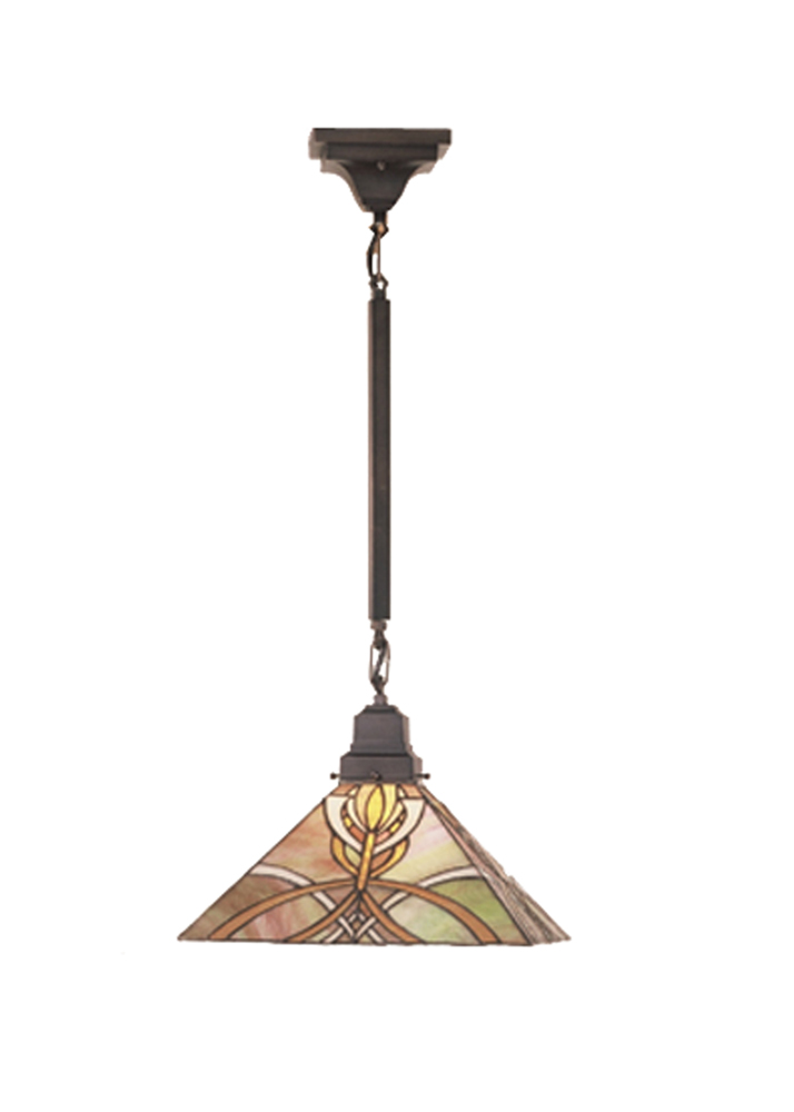 meyda decorative 13 sq glasgow bungalow pendant lighting