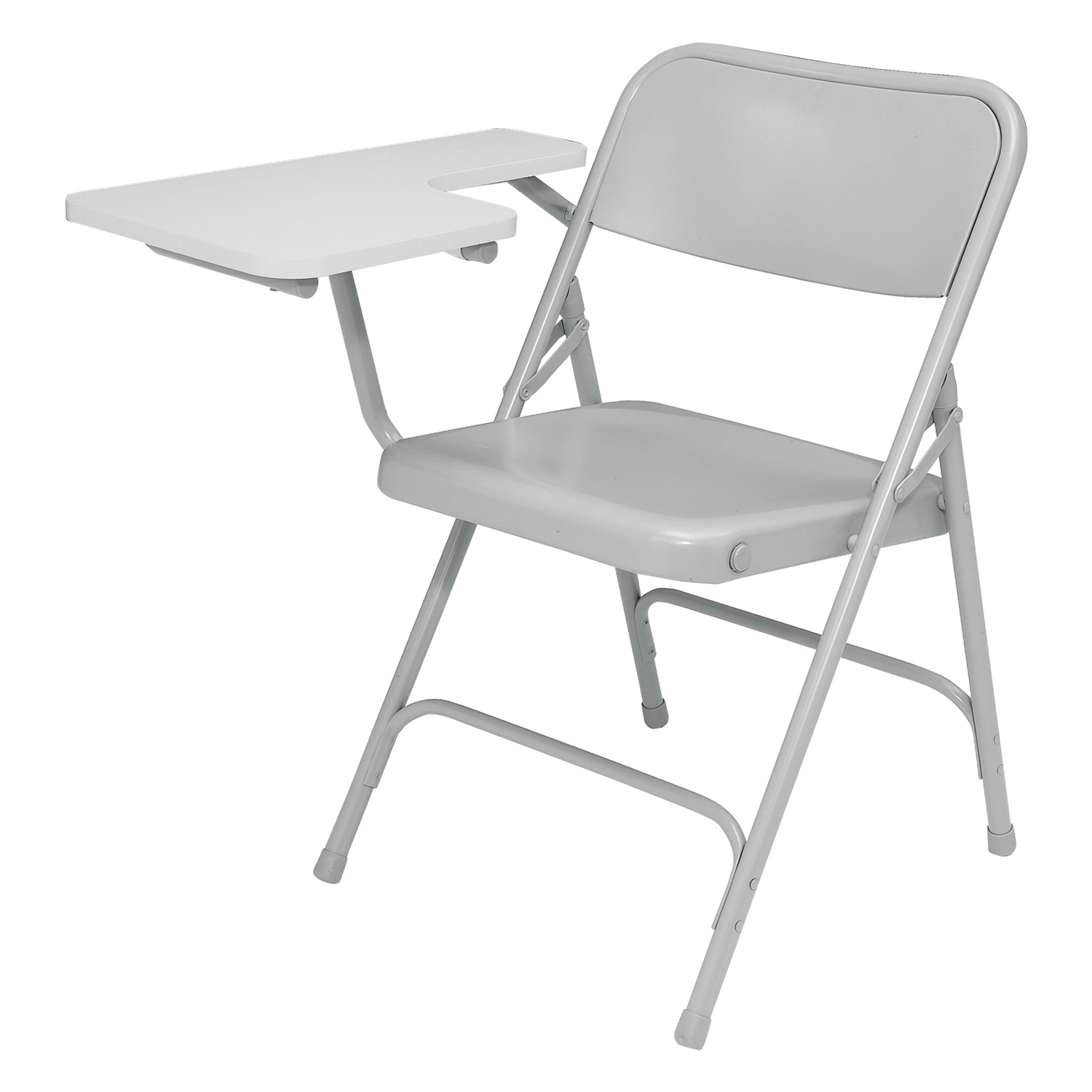 National Public Seating Ergonomic Premium Portable Steel Folding Desk Chair With Right Handed Tablet Arm Grey 2 Pack at Sears.com