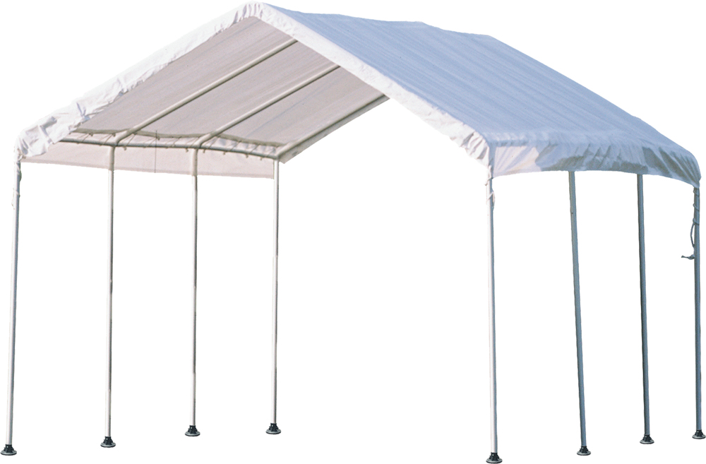 """Shelter Logic Outdoor Travel 10'x20' Canopy 1-3/8"""" 8-Leg Frame White Cover at Sears.com"""