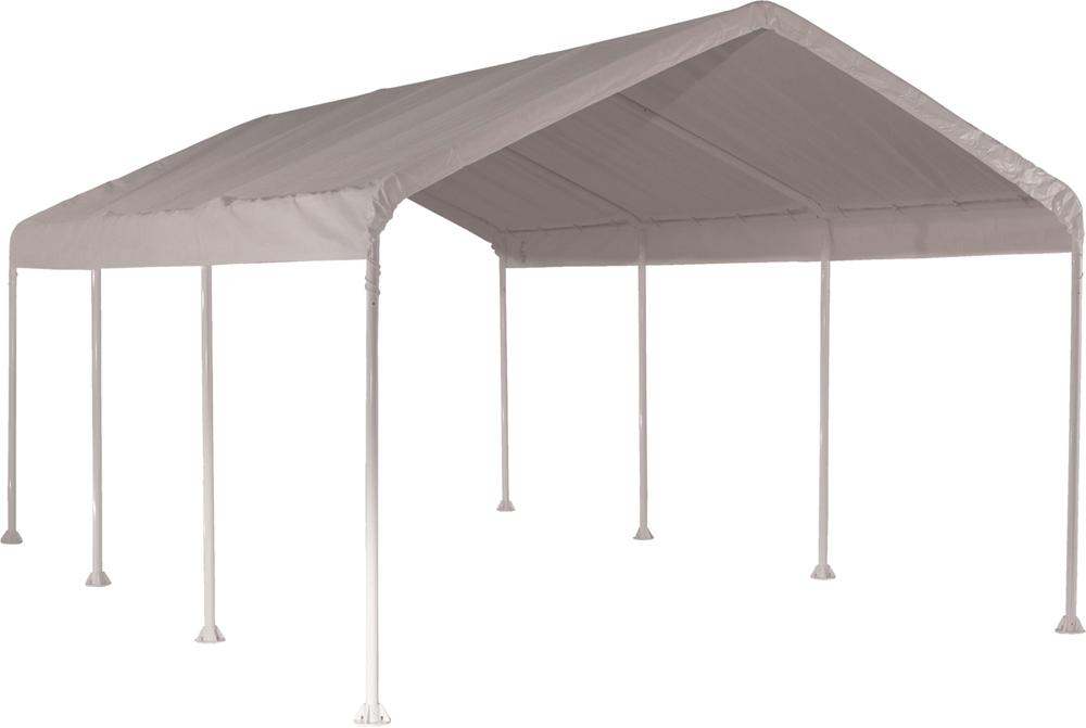 """Shelter Logic 10x20 Feet Outdoor Travel Canopy 2"""" 8-Leg Frame White Cover"""