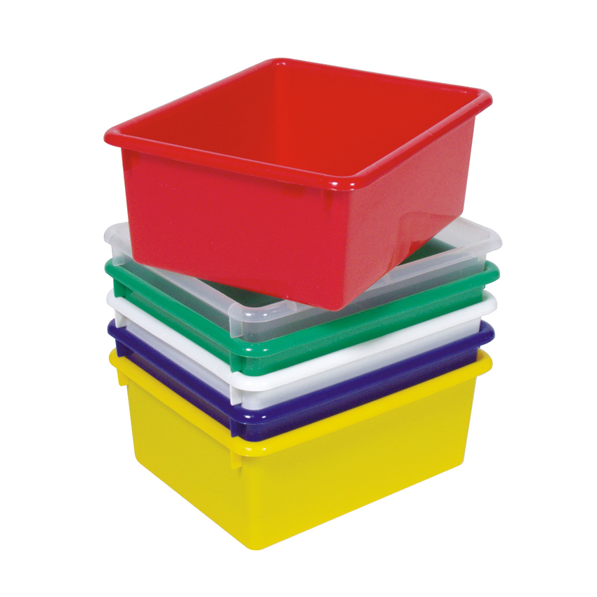 "Steffywood Home Office Indoor Red Plastic 15"" Cabinet Storage Tub 5\""H x 10 1/2\""W x 13\""L at Sears.com"