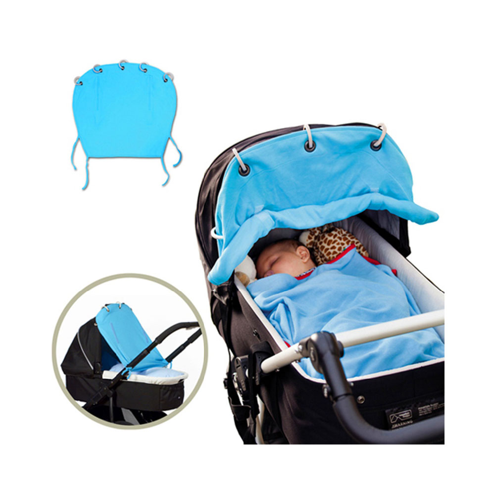 infant baby sunshade uv protective stroller car seat cover blue clickhere2shop. Black Bedroom Furniture Sets. Home Design Ideas