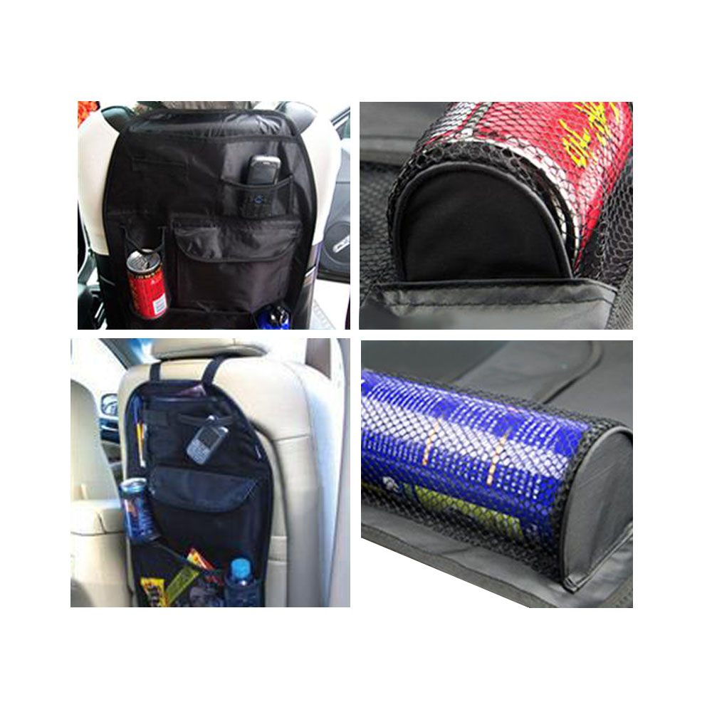 Taby Tray Kids Baby Car Backseat Pocket Storage Organizer - Black