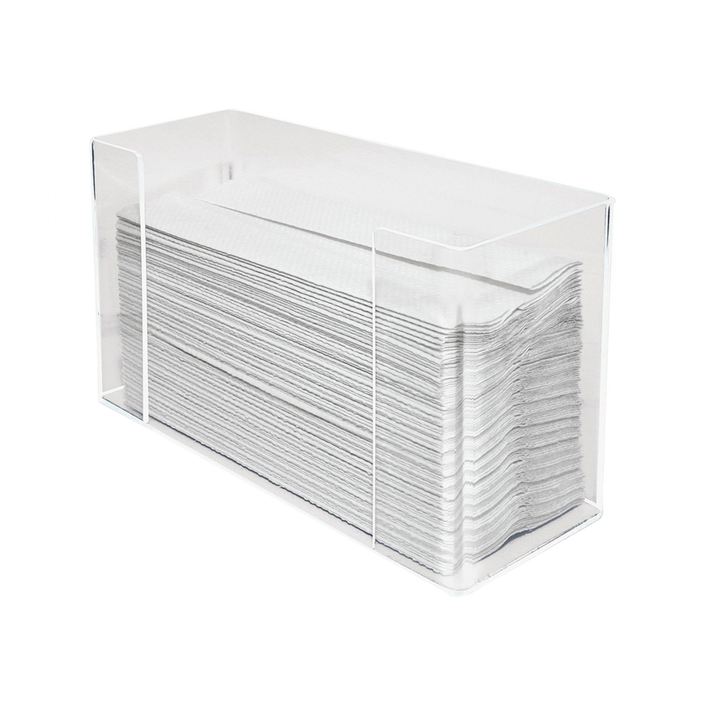 Paper Towel Dispenser, Clear Acrylic, 10.5x6.75x4.2 Inches