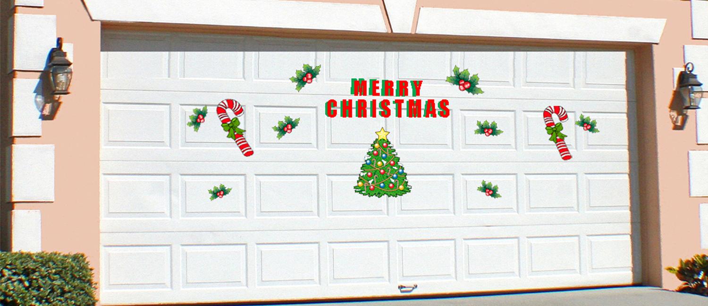 Halloween garage door decorations - Garage