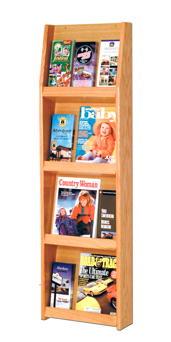 Offex Slope 12 Pocket Literature Display 4Hx3W Light Oak