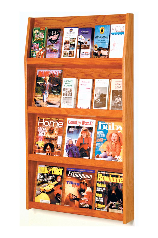 Offex Slope 24 Pocket Literature Display 4Hx6W Medium Oak