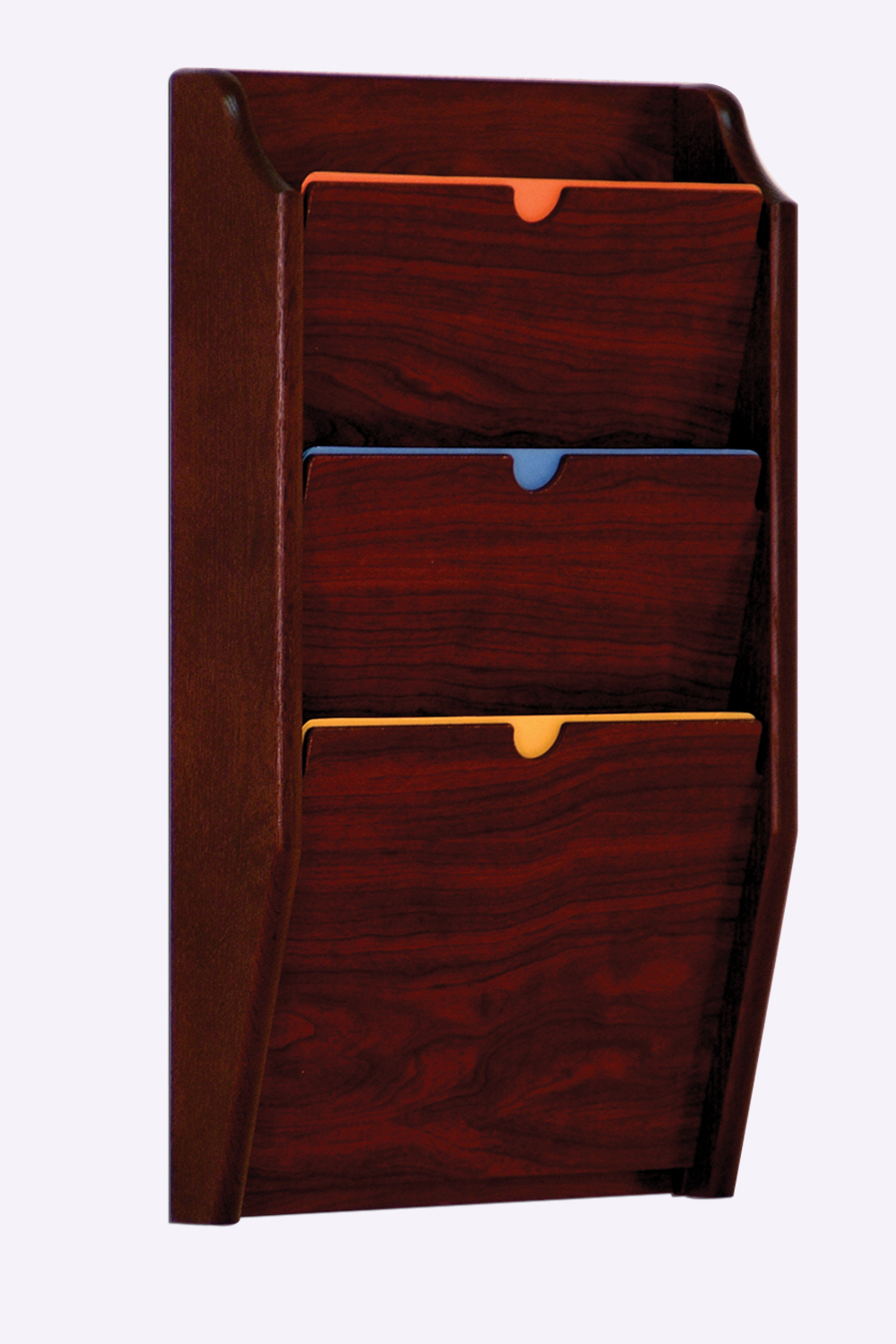 Offex 3 Pocket Privacy Letter Size Chart Holder - HIPAA Compliant Mahogany