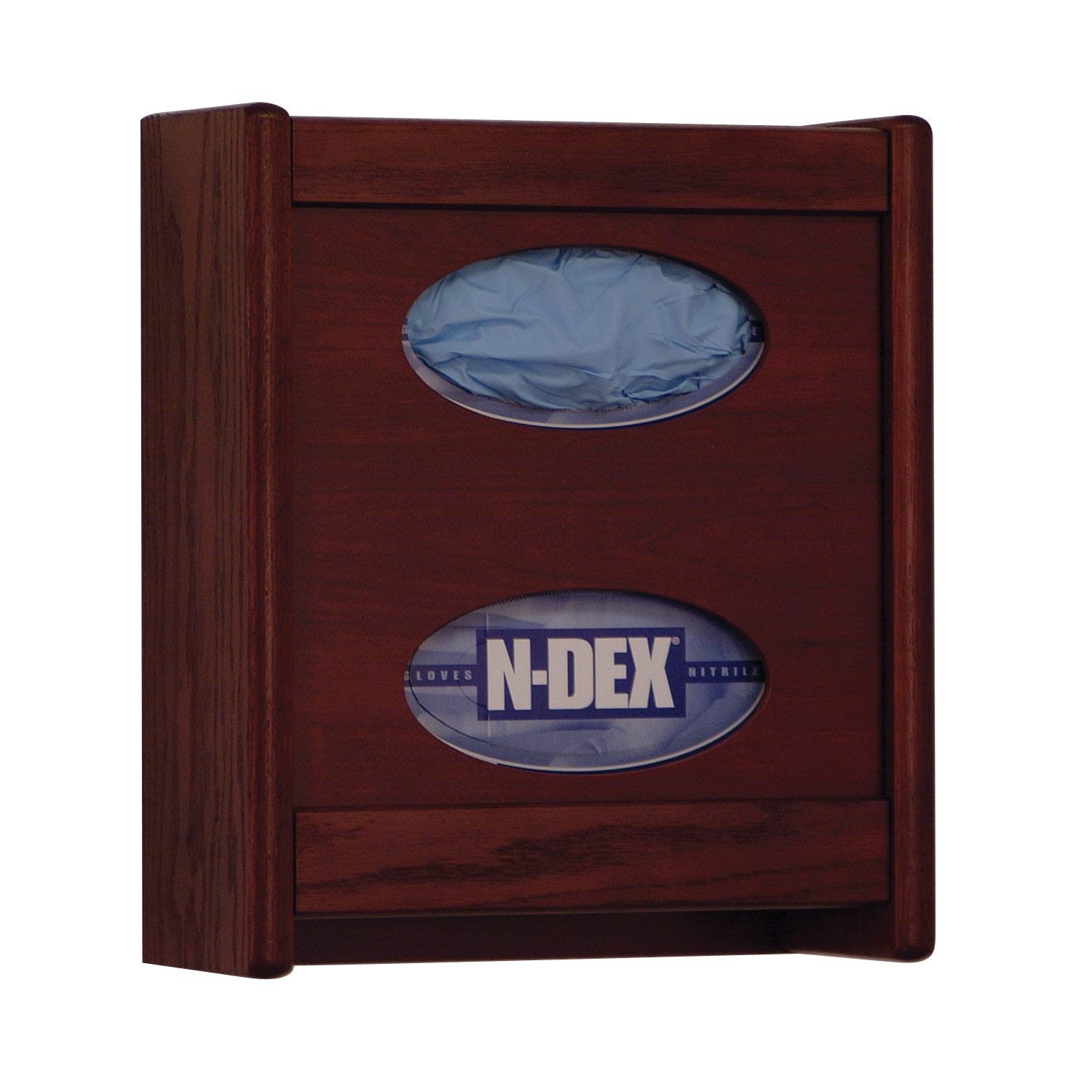 Offex 2 Pocket Glove/Tissue Box Holder Mahogany Finish