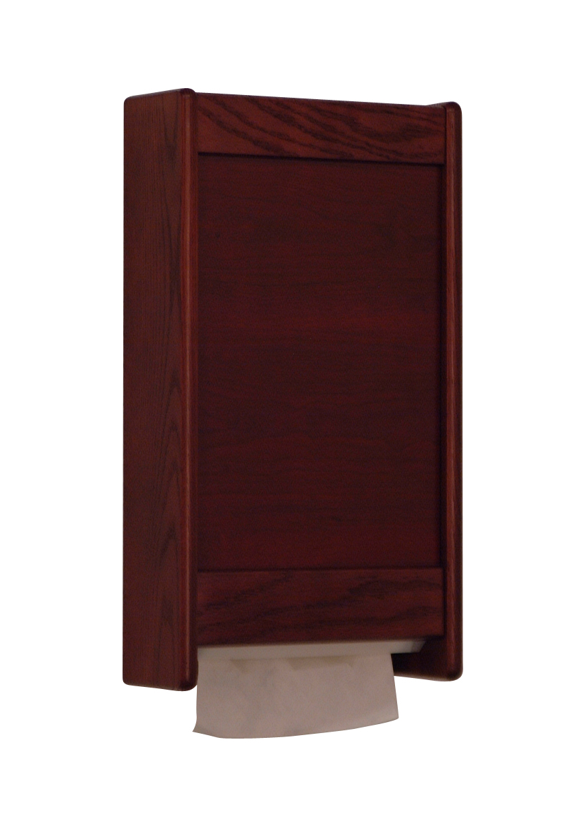 Offex C-Fold/Multi-Fold Towel Dispenser Mahogany