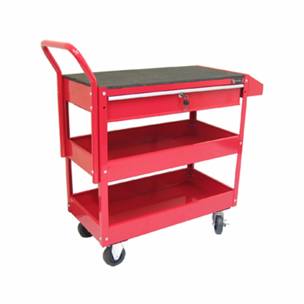 metal storage cart excelhardware 2 tray 1 drawer rolling metal tool storage 23289