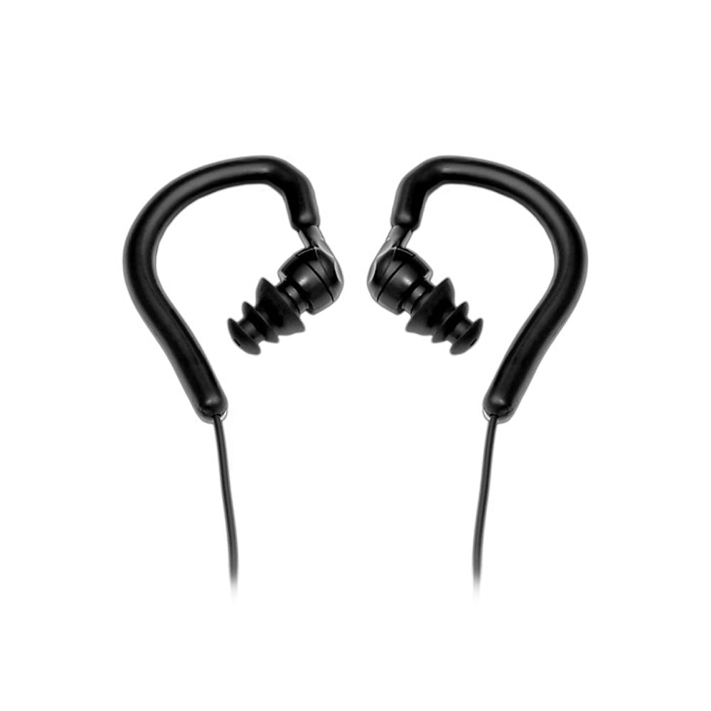 Waterproof Marine Headphones Earbuds compatible w/ MP3 players & iPods(Black Color)