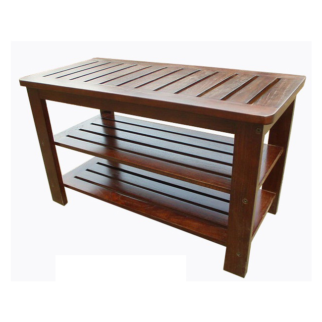 D Art Mahogany Michaela Shoe Bench