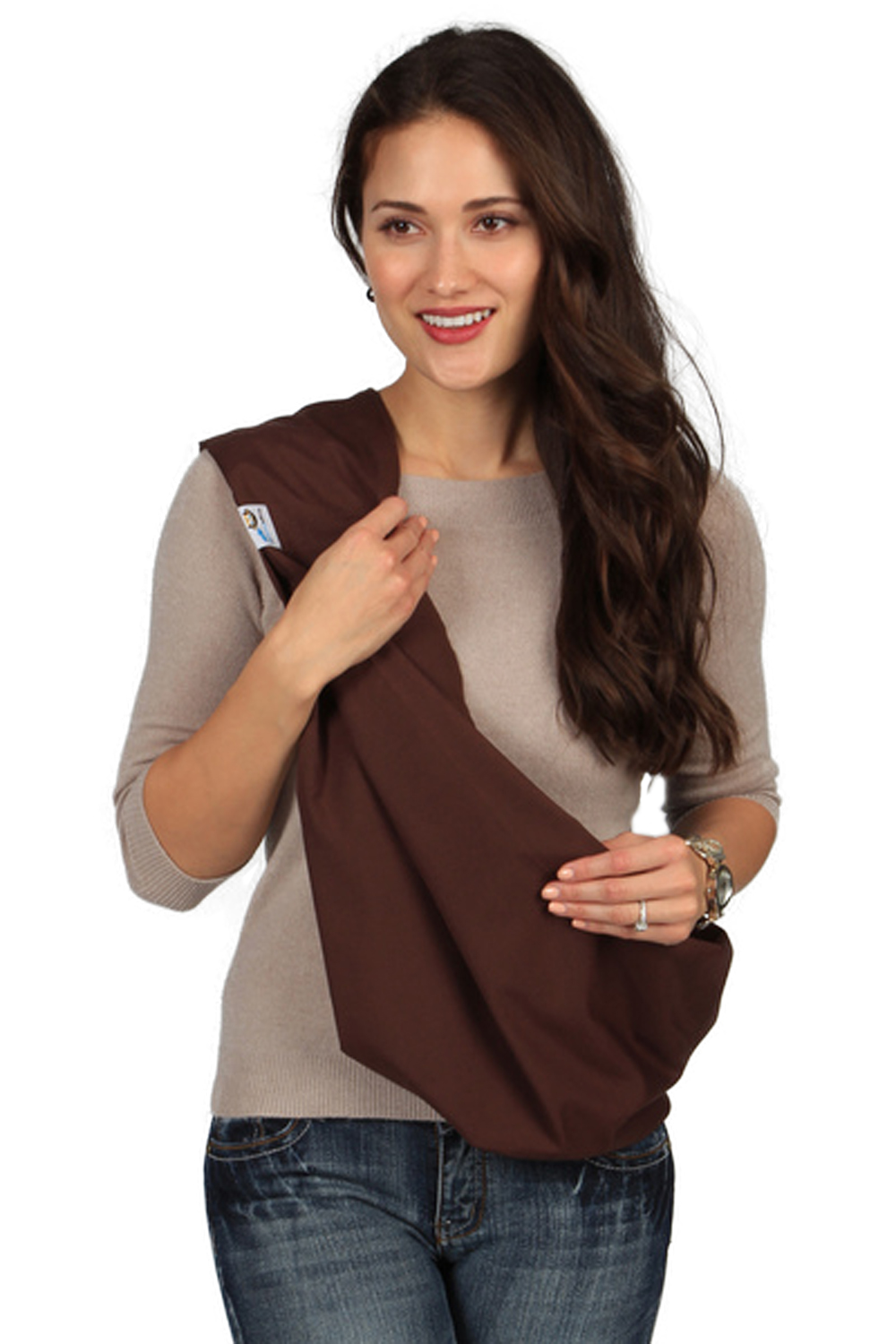 HugaMonkey Baby Sling Carrier for Newborn Babies, Infants and Toddlers - Brown, Medium